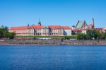Image of vistula. Royal Castle in Warsaw
