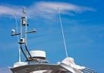 Image of GPS. GPS and antennas on a boat