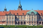 Image of castle. Royal Castle in Warsaw closeup