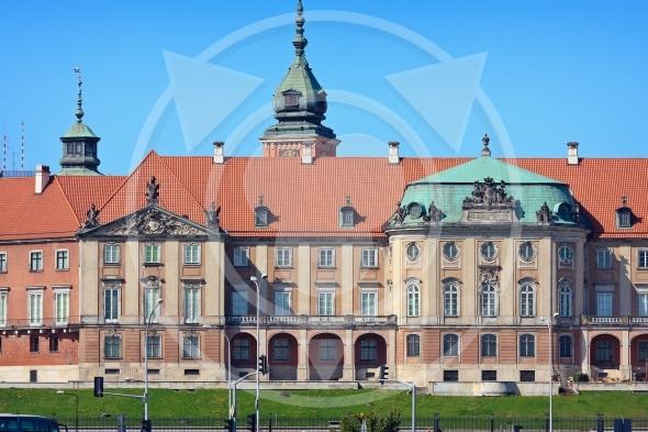Royal Castle in Warsaw closeup