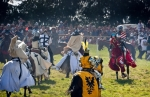 Image of attack. Teutonic Knights attack, Battle of Grunwald