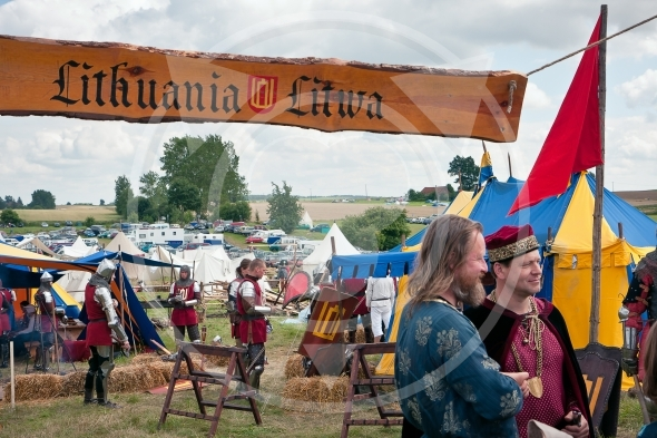 Lithuanian military camp, Battle of Grunwald 1410 anniversary