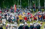 Image of Zalgiris. Medieval Knights at Battle of Grunwald 1410 reconstruction