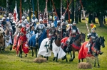 Image of battle. Teutonic horsemen