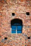 Image of window. Window in old brick wall