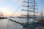 Image of Gdynia. Sailing ship Fryderyk Chopin