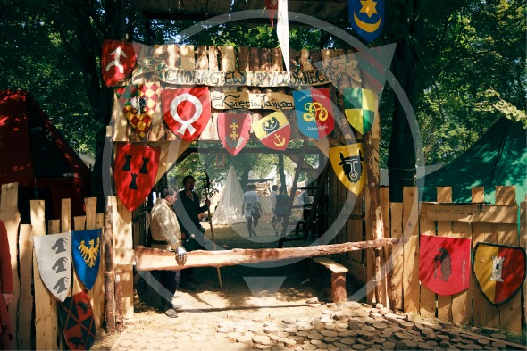 Medieval camp gate, Grunwald, Poland