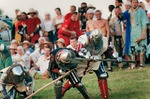 Image of duel. Medieval Knights Fight