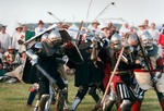 Image of combat. Medieval Knighs Fighting