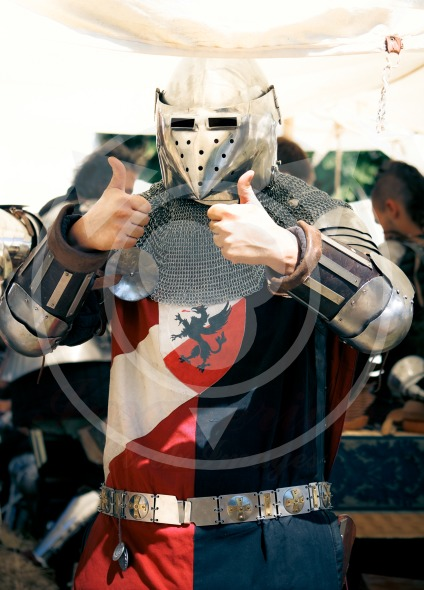 Medieval Knight Thumbs up