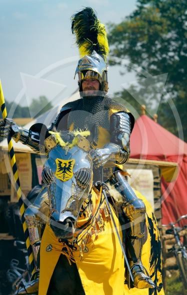 Teutonic Knight on horseback