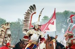 Image of hussars. Polish Winged Hussar