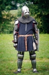 Image of armored. Armored Knight ready for the duel, Uniejów, Poland
