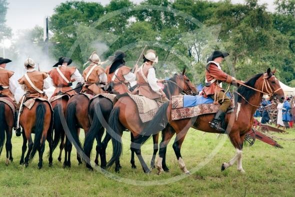 Reiters on horses – Battle of Klushino