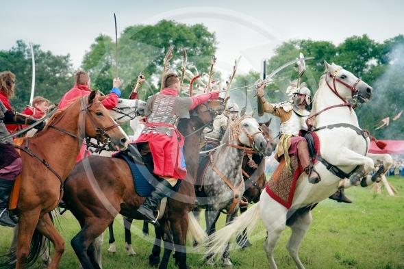 Hussars attack – Battle of Klushino