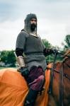Image of horsemen. Armored companion, horsemen
