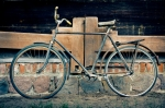 Image of bicycle. Vintage old bicycle