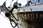 Image of barque. Bow of the Sedov tall ship