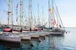 Image of sailing. Sailboats in port