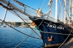 Image of ships. Vessel Thalassa in port