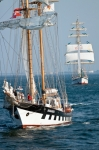 Image of sailing. Sailing vessel Brabander during Culture 2011 Tall Ships Regatta