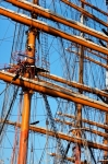Image of sails. Tall ship  rigging