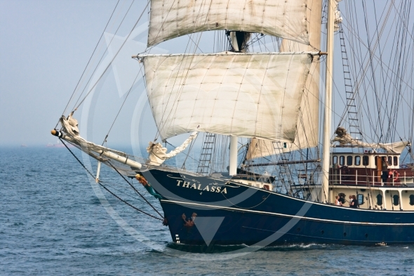 Sailing vessel Thalassa, Culture 2011 Tall Ships Regatta
