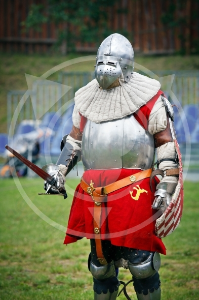 Armored  Knight before the duel
