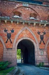 Image of Citadel. Gate of Citadel in Warsaw