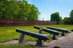 Image of cannon. Artillery of Citadel in Warsaw