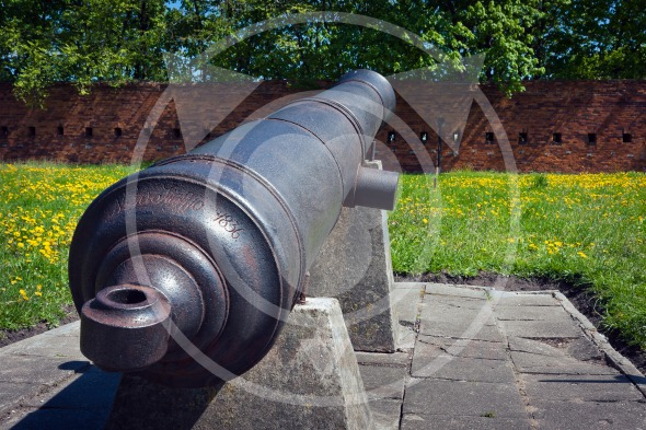 Old cannon, artillery of Citadel in Warsaw