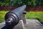 Image of artillery. Old cannon, artillery of Citadel in Warsaw