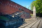 Image of citadel. Citadel in Warsaw, gallows remains