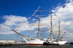 Image of frigate. 'Dar Pomorza' Polish sailing frigate