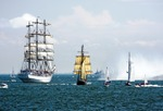 Image of ships. Full rigged ship 'Dar mlodziezy' – Tall Ship Races