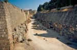 Image of Rhodes. Moat of  Palace of the Grand Master of the Knights –  Rhodes, Greece