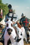 Image of crusaders. Mounted Knights, Grunwald, Poland