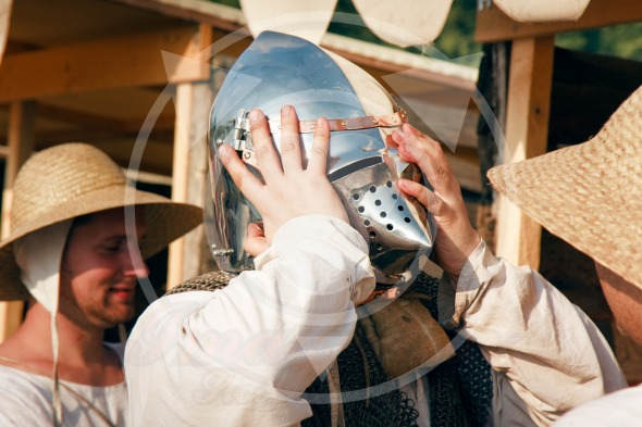 New helmet for a knight – Battle of Grunwald festival