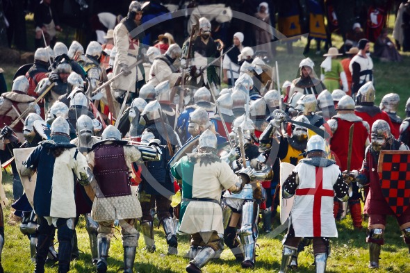Fighting Knights at the Battle of Grunwald