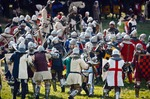 Image of battle. Fighting Knights at the Battle of Grunwald
