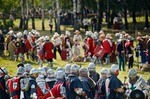 Image of Grunwald. Poles against Teutons at the 601th anniv. of Battle of Grunwald