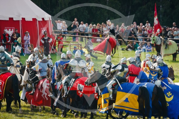 Knights fighting on horseback, Battle of Grunwald 1410