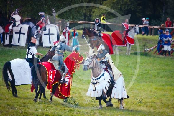 Teutonic Grand Master fights on horseback, Battle of Grunwald 1410 – 601th anniversary