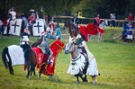 Image of Teutonic. Teutonic Grand Master fights on horseback, Battle of Grunwald 1410 – 601th anniversary