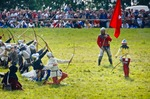 Image of archery. Medieval Archers at Battle of Grunwald festival 2011