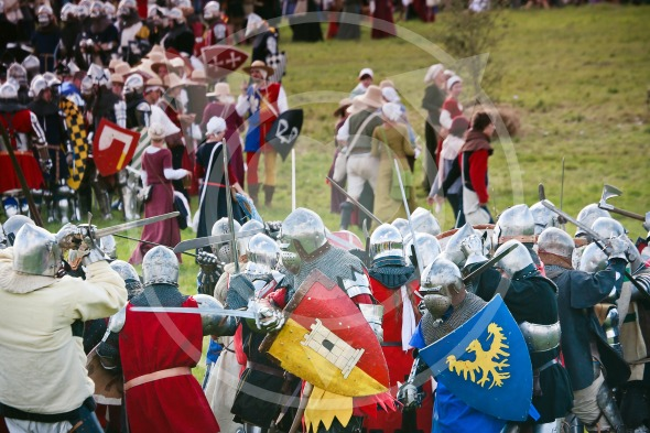 Medieval Battle, knights fighting