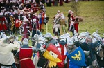 Image of battle. Medieval Battle, knights fighting