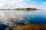 Image of lake. Lake and blue sky – Masuria