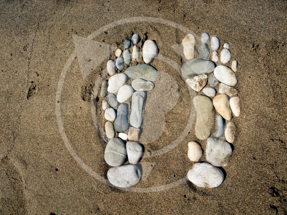 Big Foot was here – stone feet in the sand