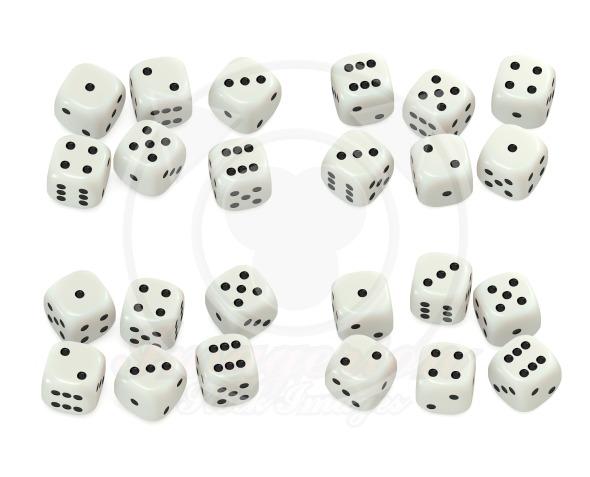 White dice set